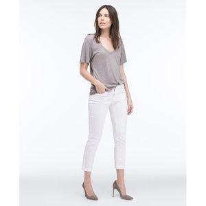 AG The Stilt Roll-Up White Jeans